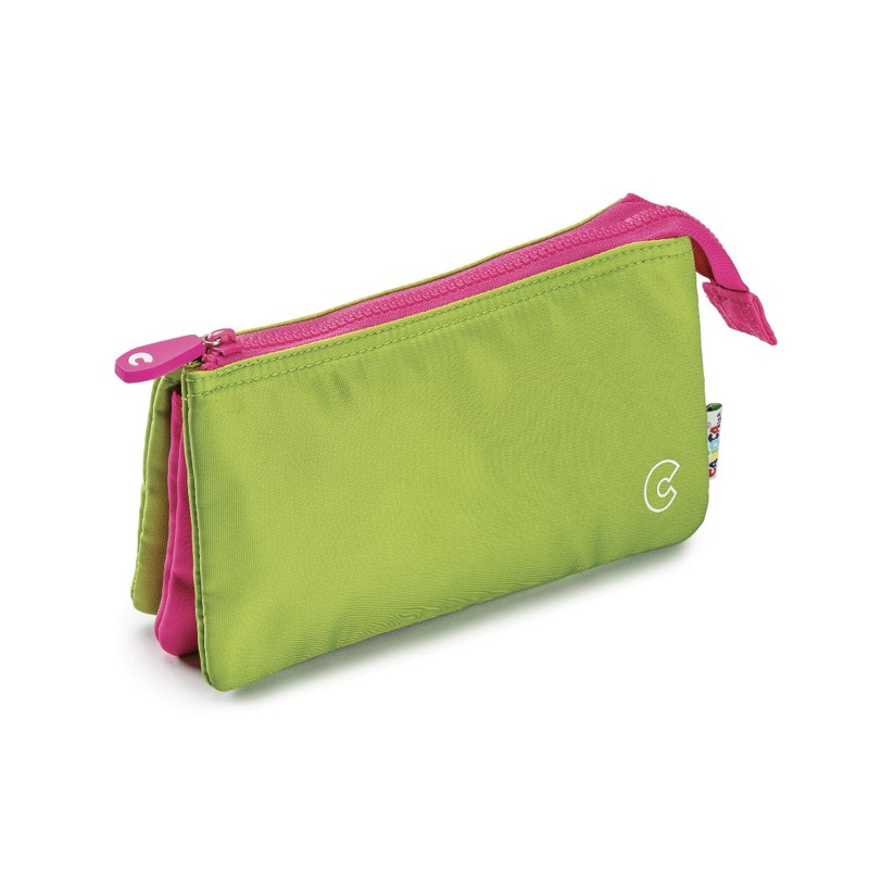 23284/Verde - CARIOCA - Astuccio Multi-Tasche - Estuche Multi-Espacio - Multi-Pocket Pencil Case - Trousse Multi-Poches