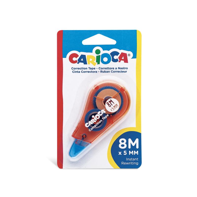42088 - Rosso - CARIOCA - Correttore a Nastro Rosso 8m - Corrector de Cinta - Corrector Tape - Ruban Correcteur