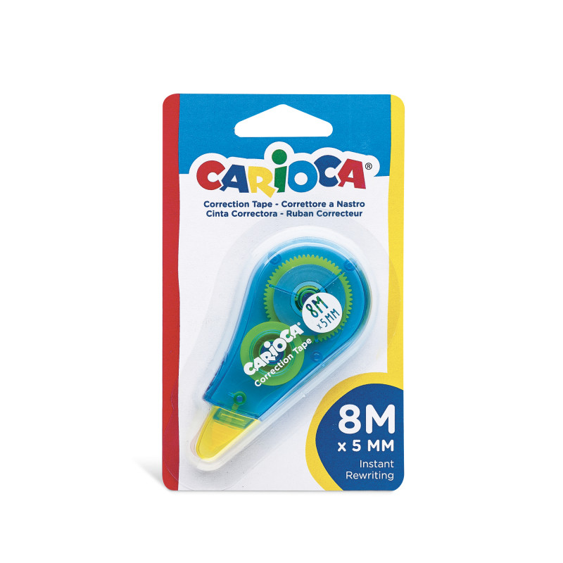 42088 - Blu - CARIOCA - Correttore a Nastro Blu 8m - Corrector de Cinta - Corrector Tape - Ruban Correcteur