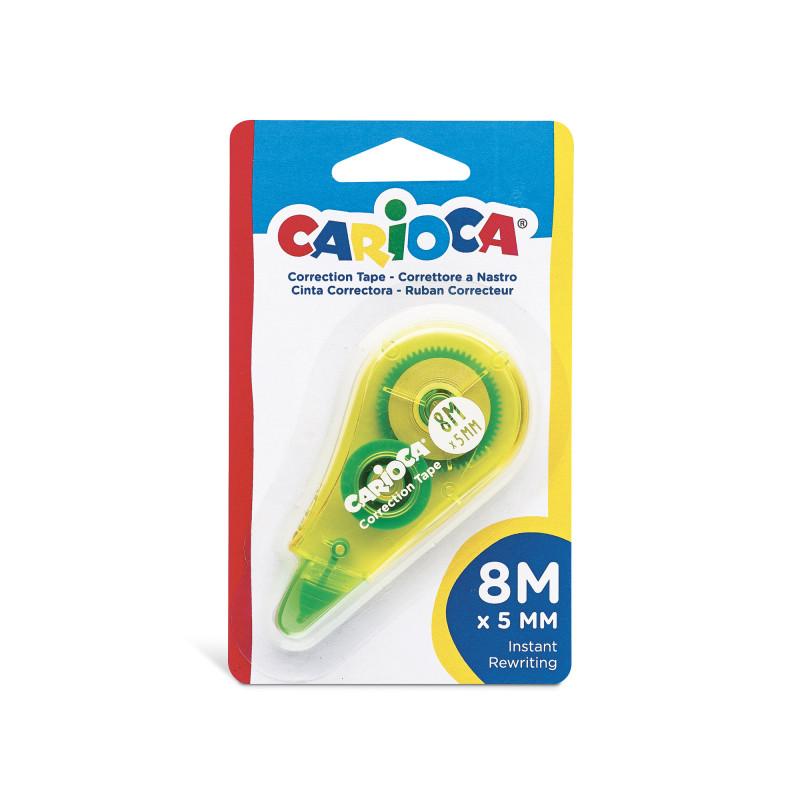 42088 - Giallo - CARIOCA - Correttore a Nastro Giallo 8m - Corrector de Cinta - Corrector Tape - Ruban Correcteur