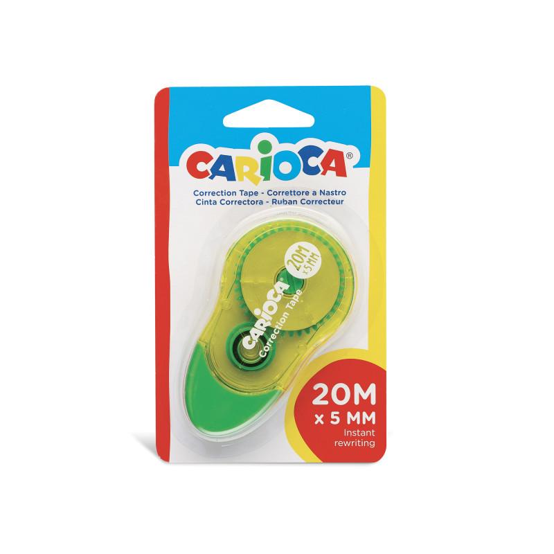 42093 - Giallo - CARIOCA - Correttore a Nastro Giallo 20m - Corrector de Cinta - Corrector Tape - Ruban Correcteur