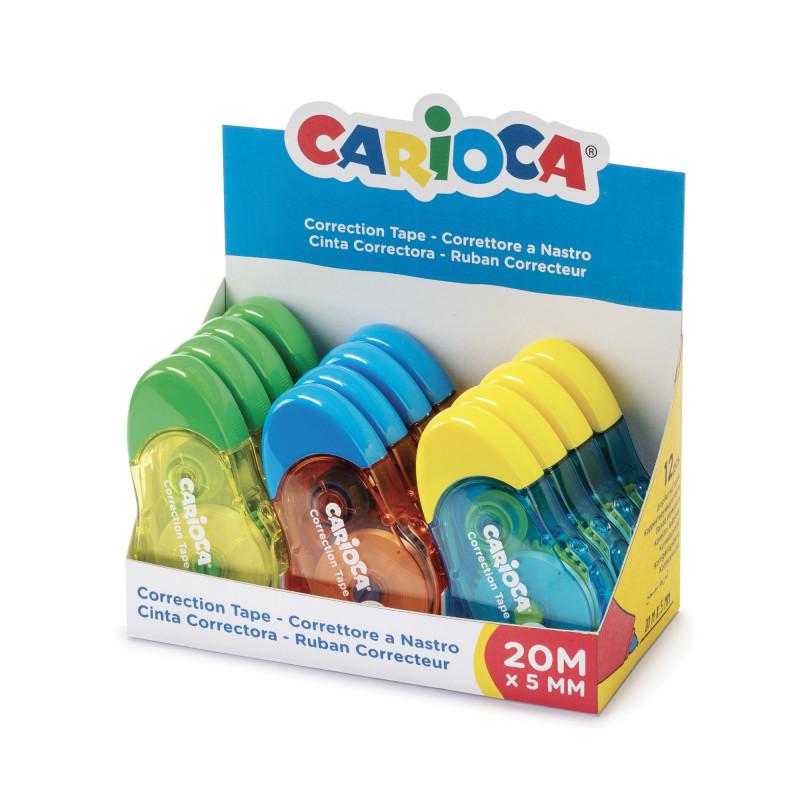 42092 - CARIOCA - Display Correttore a Nastro 12m 12 Pz - Correctores de Cinta - Corrector Tape - Rubans Correcteurs