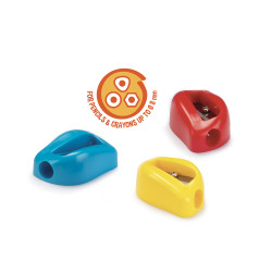 42095 - CARIOCA - Temperini con 1 Buco 3 Pz - Sacapuntas 1 Agujero - Sharpeners 1 Hole - Tallie-crayons 1 Trou