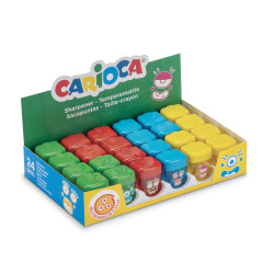 42099 - CARIOCA - Temperini con 1 Buco 24 Pz - Sacapuntas 1 Agujero - Sharpeners 1 Hole - Tallie-crayons 1 Trou