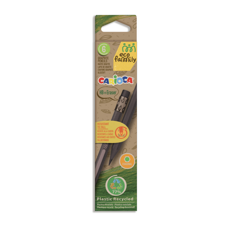 43091 - CARIOCA - Matite Eco Family TITA 6 Pz - Lápices Eco family - Pencils Eco family - Crayons Eco family