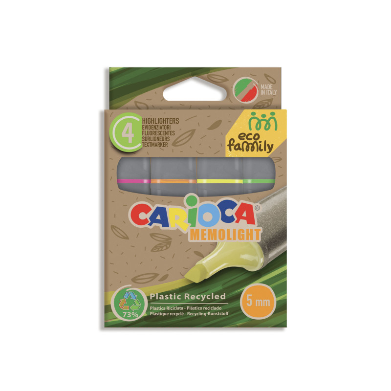 43098 - CARIOCA - Evidenziatori Eco Family - Subrayadores Eco Family - Highlighters Eco Family - Surligneurs Eco Family