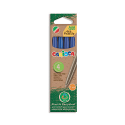 43102/02 - CARIOCA - Penne Eco Family Blu 4 Pz - Bolígrafos Eco Family - Pens Eco Family - Stylo Eco Family