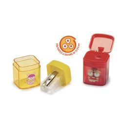 42097 Rosso-Blu - CARIOCA - Temperini con 1 Buco 2 Pz - Sacapuntas 1 Agujero - Sharpeners 1 Hole - Tallie-crayons 1 Trou