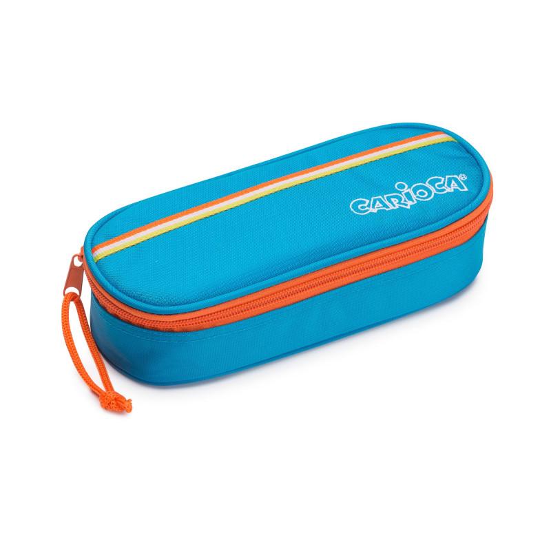 23172/BLUE - CARIOCA - Astuccio Pouch Fluo Blu Vuoto - Estuche - Pencil case - Trousse