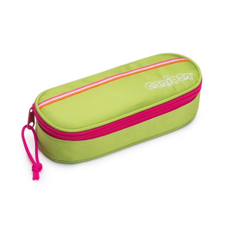 23172/GREEN - CARIOCA - Astuccio Pouch Fluo Verde Vuoto - Estuche - Pencil case - Trousse