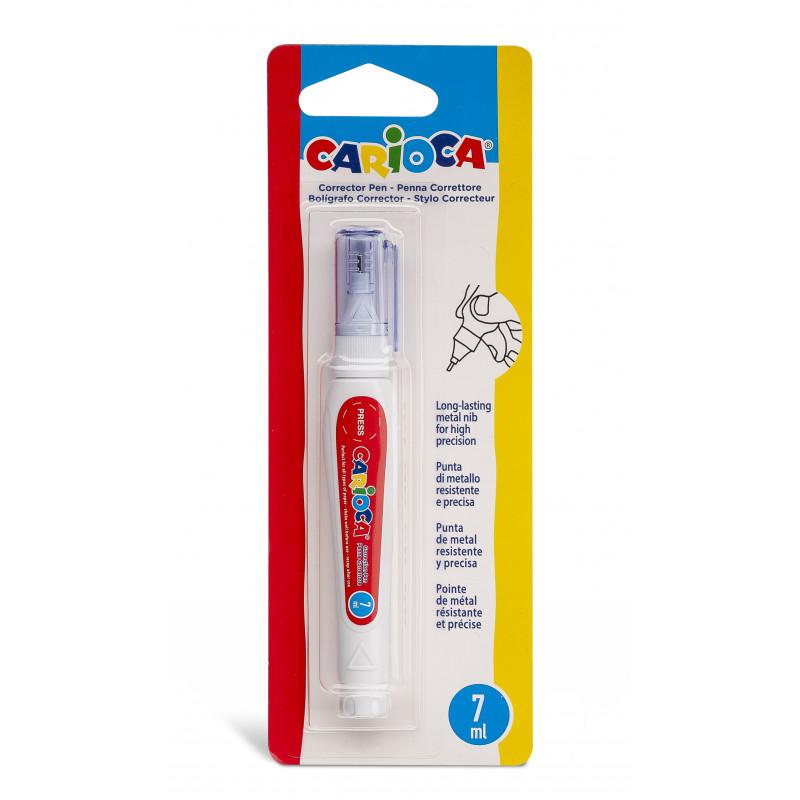 42072 - CARIOCA -Correttore a Penna 7ml - Bolígrafo Corrector -Corrector pen - Crayon correcteur