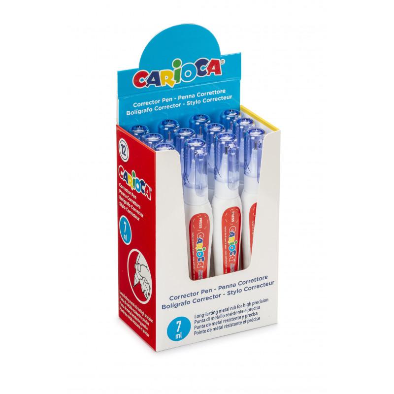 40152 - CARIOCA - Display Correttore a Penna 7ml 12 Pz - Bolígrafo Corrector - Corrector Pen - Crayon correcteur