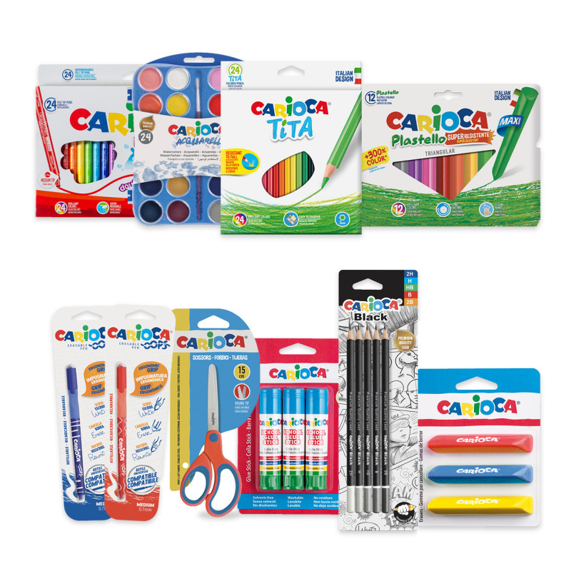 53220 - CARIOCA - Set Back To School Large - 100 Pz