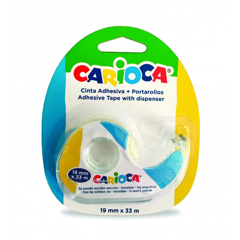 42885 - CARIOCA - Nastro Adesivo con Porta Nastro - Cinta Adhesiva - Adhesive Tape - Ruban Adhésif