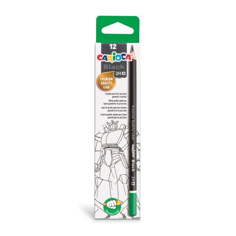 Graphite Pencils 2H - 12 Pcs