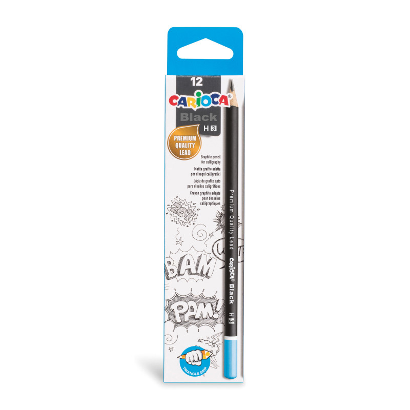 42929 - CARIOCA - Matite Grafite BLACK H 12 pz - Lápices de Grafito - Graphite Pencils - Crayons Graphite