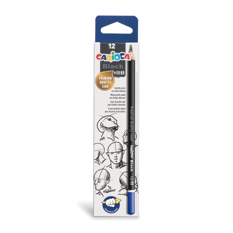 42946 - CARIOCA - Matite Grafite BLACK HB 12 pz - Lápices de Grafito - Graphite Pencils - Crayons Graphite