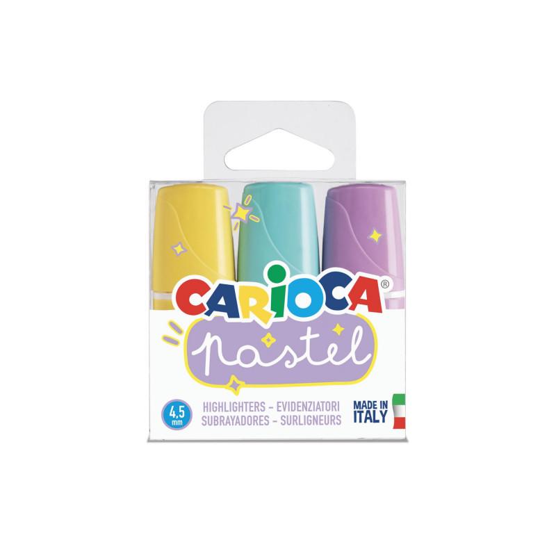43168 - CARIOCA - Evidenziatori Pastel - Subrayadores Pastel - Highlighters Pastel - Surligneurs Pastel