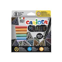 43162 - CARIOCA - Pennarelli Metallici - Metallic Felt Tip Pens - Feutres Metallic - Rotuladores Metálicos