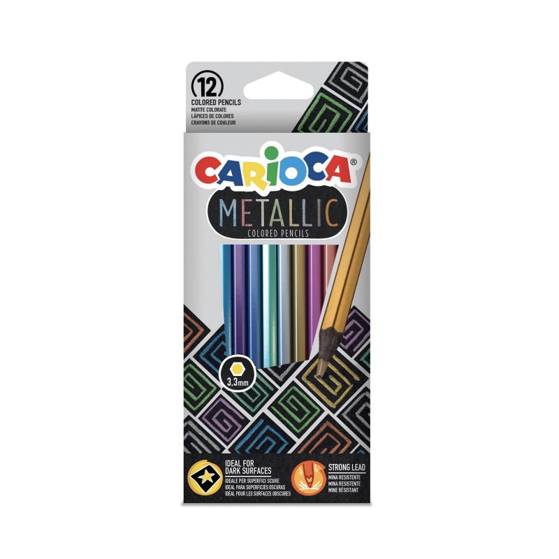 43164 - CARIOCA - Matite Metalliche - Metallic Pencils - Crayons Metallic - Lápices Metálicos