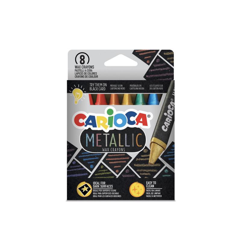 43163 - CARIOCA - Pastelli Metallici - Metallic Crayons - Pastels Metallic - Ceras Metálicas