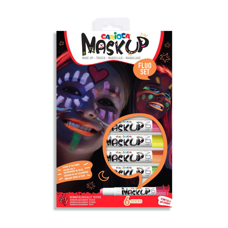 43156 - CARIOCA - Truccabimbi Mask Up Neon - Maquillaje Mask Up Neon - Make Up Mask Up Neon - Maquillage Mask Up Neon