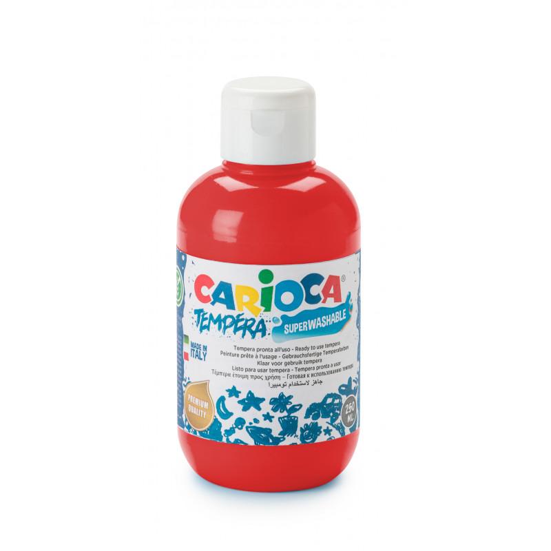 KO027/10 - CARIOCA - Tempera 500 ml Rosso - Témpera - Tempera - Detempre