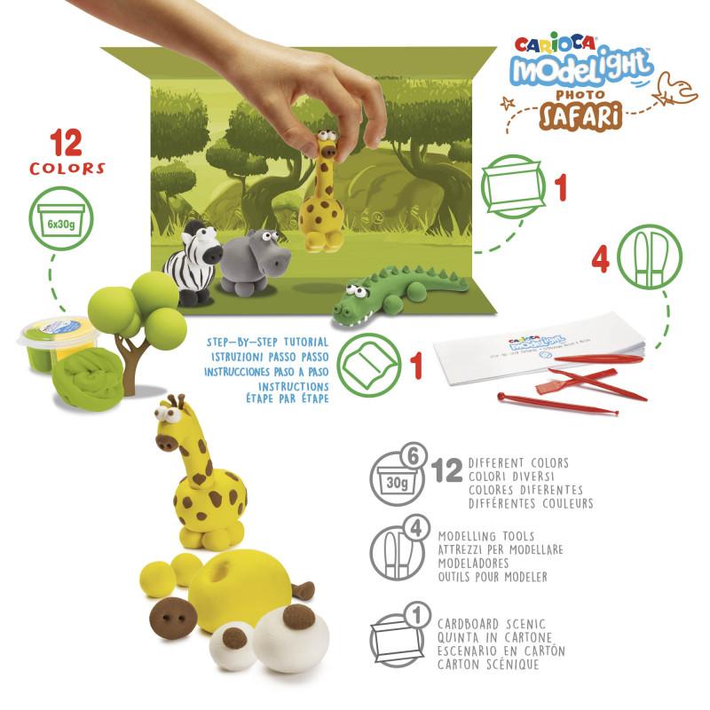43153 - CARIOCA - Modelight Maxi Scatola Gioco Safari - Modelight Maxi Play Box Safari - Modelight Maxi Caja Juego Safari