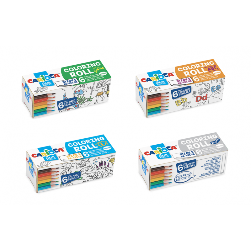 Set Coloring Roll Mini - 4 Pz