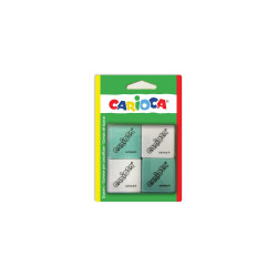 42862 - CARIOCA - Gomme Quadrate Colorate e Bianche 4 pz - Gomas - Erasers - Gommes