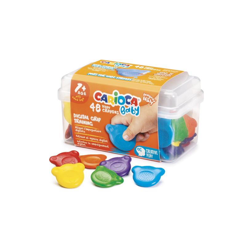 Pastelli Colorati Orsetti BABY - 48 pz Scatola In Plastica