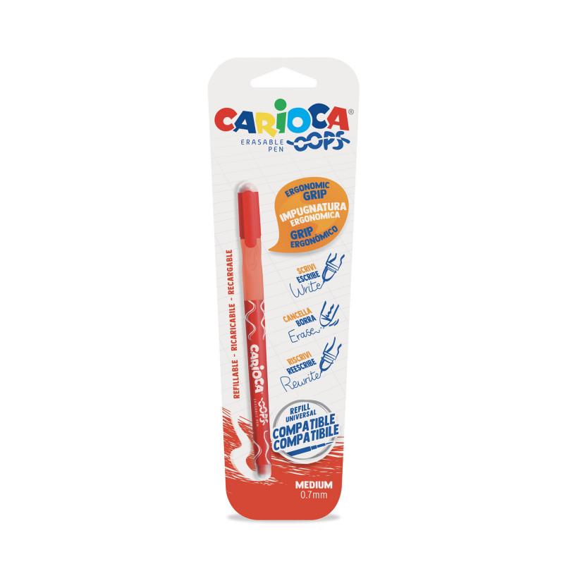 43036/03 - CARIOCA - Penna Cancellabile OOPS rosso - Bolígrafo Borrable - Erasable Pen - Stylo Effaçable