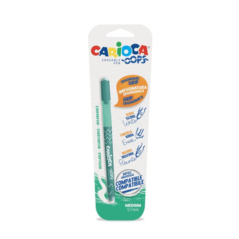 43036/04 - CARIOCA - Penna Cancellabile OOPS verde - Bolígrafo Borrable - Erasable Pen - Stylo Effaçable