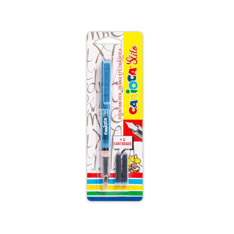 42303/02 - CARIOCA - Penna Stilografica STILO Blu con 2 Catucce - Pluma Estilográfica - Fountain Pen - Stylo Plume