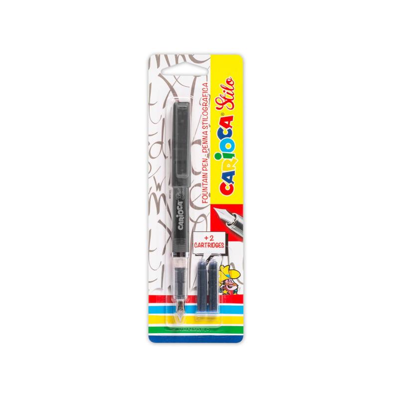 Penna Stilografica STILO Nera con 2 Catucce - 1 pz