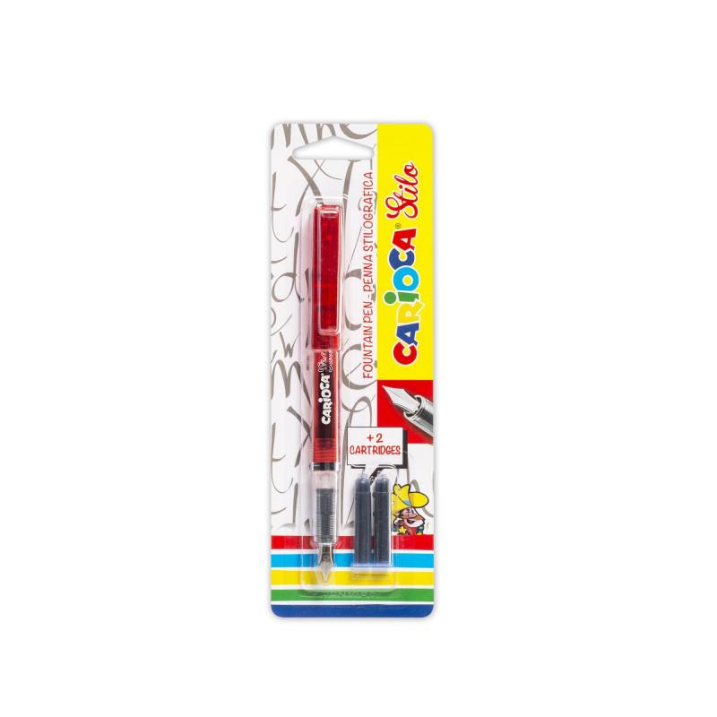 42303/01 - CARIOCA - Penna Stilografica STILO NERA con 2 Catucce - Pluma Estilográfica - Fountain Pen - Stylo Plume