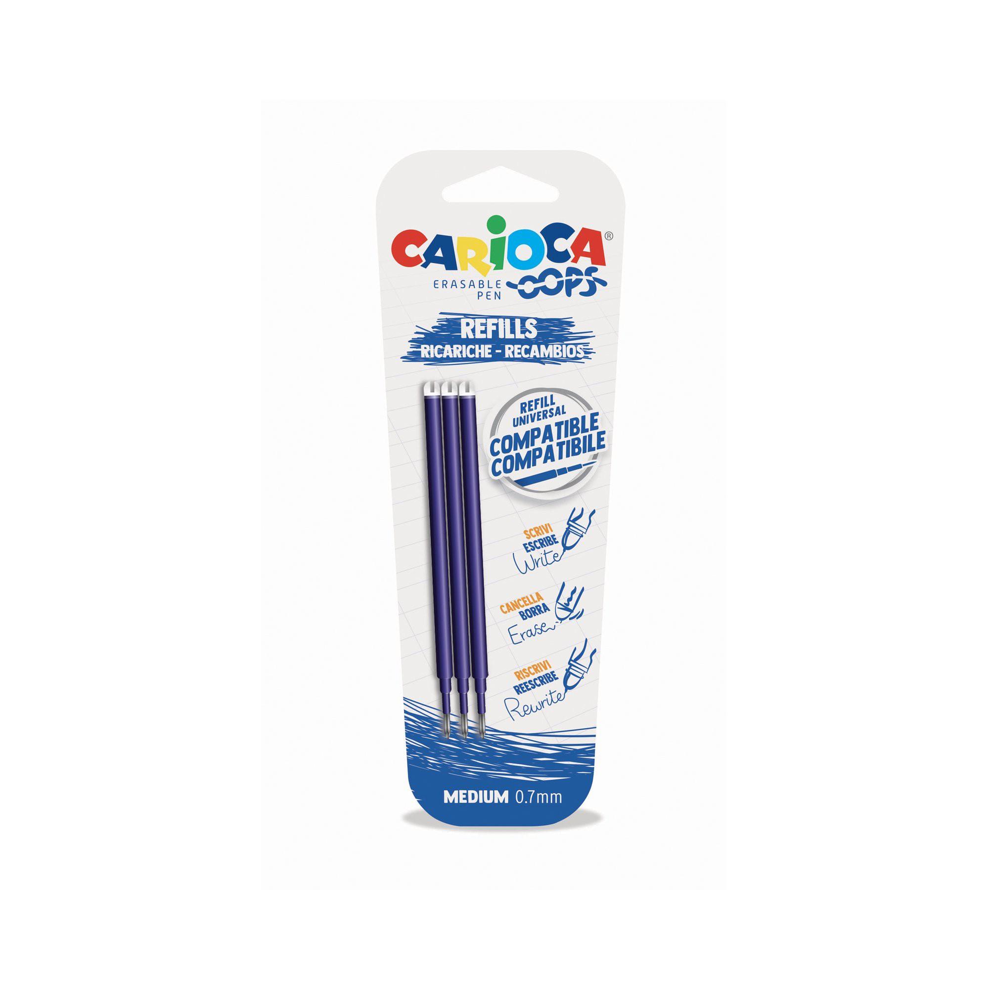 Carioca Fine/ Multicolore /Confezione da 8/Pennarelli cancellabile per lavagna bianca