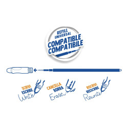Caoutchouc inclus Carioca UNRWA Stylo effa/çable avec encre thermosensible Contient 1 stylo Trait 0,7 mm Parfait pour /écrire Couleur : noir. effacer et r/é/écrire