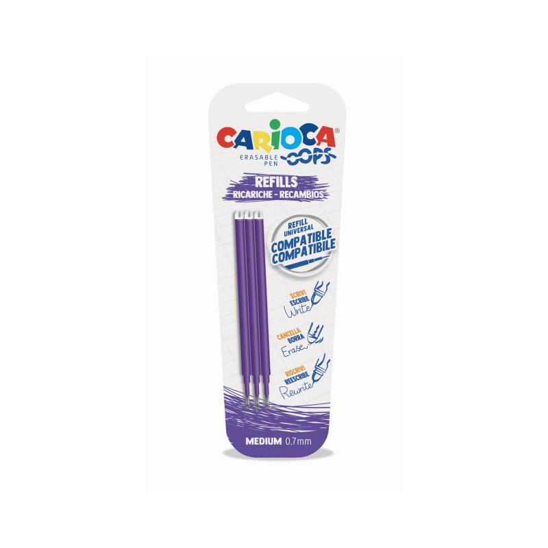 43041/09 - CARIOCA - Ricariche penna Oops - Recambios bolígrafo Oops - Refill Oops Pen - Recharge Stylo Ooops