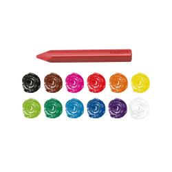 42671 - CARIOCA - Pastelli Resistenti  MAXI PLASTELLO 12 pz - Plasticeras Resistentes - Resistant Crayons - Pastels Résistant