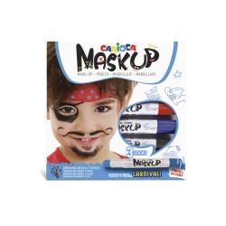 43050 - CARIOCA - Colori per la pelle MASK UP CARNIVAL 3 pz - Colores para la piel - Face paint - Peintures pour le visage