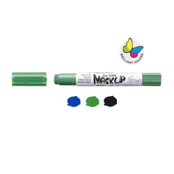 43051 - CARIOCA - Colori per la pelle MASK UP MONSTER 3 pz - Colores para la piel - Face paint - Peintures pour le visage